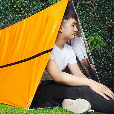 UK Folding Outdoor Emergency Tent/Blanket/Sleeping Bag Survival Camping Shelter