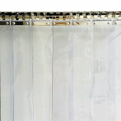 PVC Strip Curtain 1000x2000mm H 150x2mm Strips Plastic Door Curtain Shop Kitchen