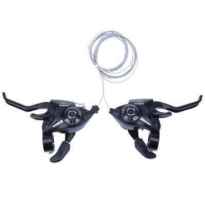 21Speed Bicycle Shifter Brake Conjoined DIP Derailleurs Mountain Bike Hand Black