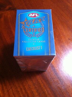 AFL Select Certified 2017 complete base set 220 common cards