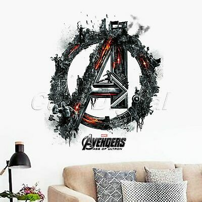 The Avengers Wall Decals Kids Sticker Removable Home Room Decor Vinyl Wallpaper