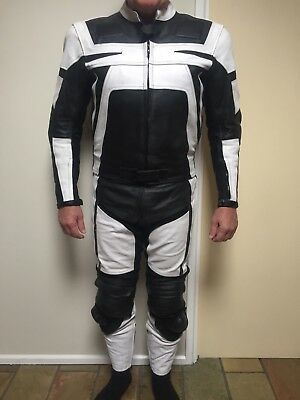 Leather Motorcycle 2 piece race suit near new