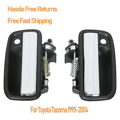 Front Outside Outer Exterior Chrome Left Right Door Handle For 1995-2004 Tacoma