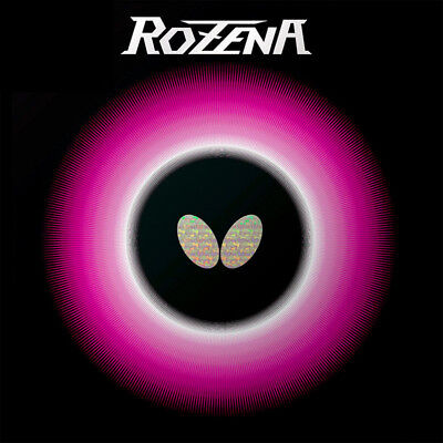 Butterfly Rozena Table Tennis Rubber Sheet Ping Pong 2.1mm Red/Black Japan