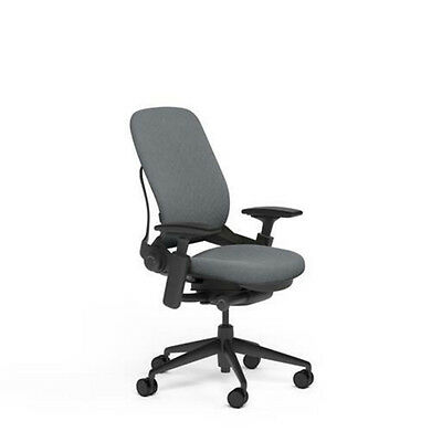 New Large Steelcase Leap PLUS Adjustable Desk Chair - Buzz2 Grey Fabric 500 lb