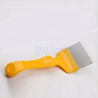 Beekeeping 18-Pin Miel peigne Acier inoxydable Tine Uncapping Fork Scratcher HG