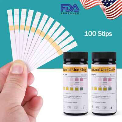 100 x Urinalysis Urine Strip Parameter Tests - UTI Ketone PH etc Testing Strips
