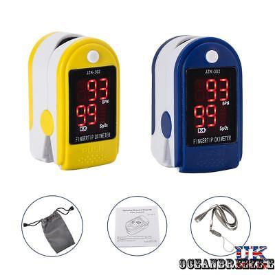 Oximeter Finger Fingertip Blood Oxygen SPO2 Pulse Heart Rate Large OLED Monitors