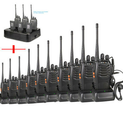 Hot 10*Retevis H-777 Walkie Talkie UHF400-470MHz 16CH 5W CTCSS/DCS+6-Way Charger