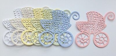 Large Buggy Style Pram Die Cuts - Mixed Colours