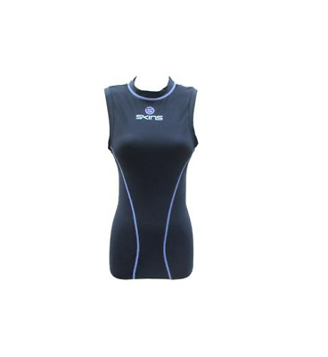 SKINS SHE TANK WOMEN COMPRESSION FEMALE SHE SLEEVELESS TOP Running Training $90