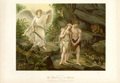 1890 Bible Master Painting #008 The Expulsion from Paradise