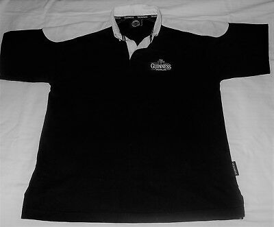 GUINNESS Beer Dublin RUGBY JERSEY Heavy Cotton Short Sleeve Padded Shoulders XL
