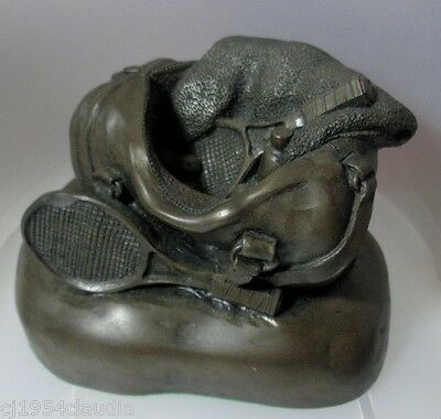 Paperweight - Poly Resin - Tennis - Weighs 680Gm (Small Fault)