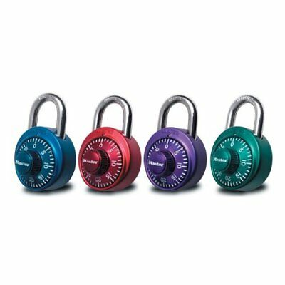 Master Lock 1530DCM X-treme Combination Lock - Assorted Colors - Pack of 4