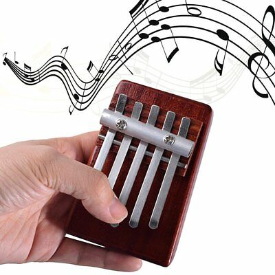 5 Keys Finger Thumb Piano Rosewood Instrument African Musical Instruments PM