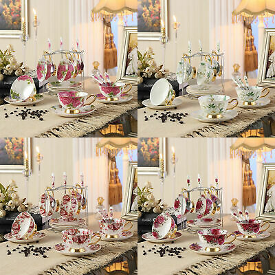 13/3 Piece European High Quality Tea Set Tea Cup Porcelain Coffee Mug