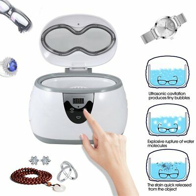 600ml Digital Timer LED Display Ultrasonic Cleaner For Jewelry Watches Dental PM