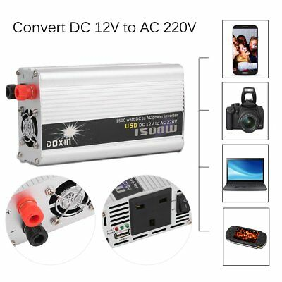 DX-GAX 1500W Auto Inverter DC 12V To AC 220V Car Modified Power Converter