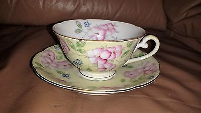 Antique Occupied Japan - Diamond Brand Floral Cup & Saucer
