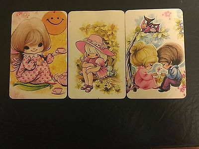 3 Lovely Swap/Playing Cards  Blank Backs