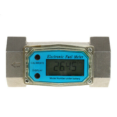 1.5'' Electronic Turbine Digital Diesel Gasoline Fuel Flow Meter 38-380L/Min