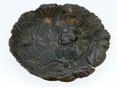 Antique Japanese 19th Century Bronze Plate