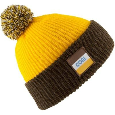 39653af1511 COAL THE STANWOOD Beanie Hat Ski Snowboard - Gold - Made in USA Knit ...