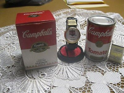NEW Old stock Campbell's Tomato Soup Limited Edition Wristwatch