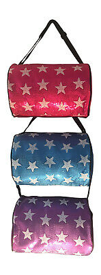 Girls Dance Duffle Bag with White Squin Stars