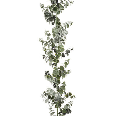 Spiral Artificial Eucalyptus Garland Frosted 6ft