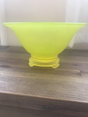 Antique Frosted glass footed serving bowl