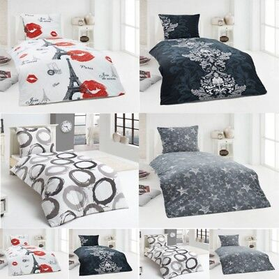 warme winter microfaser flausch fleece bettw sche 135x200 155x220 200x200 eur 22 90 picclick de. Black Bedroom Furniture Sets. Home Design Ideas