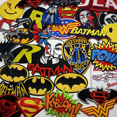 BATMAN / SUPERMAN / DC COMICS - Iron-On Patch Comic Series Collection - NEW