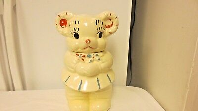 Vintage American Bisque Patent Applied Turn About Cookie Jar-4 in 1 Patent Mkd