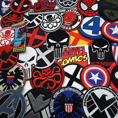 MARVEL - SHIELD, AVENGERS, X-MEN, IRON MAN Embroidered IRON-ON PATCH Store - NEW