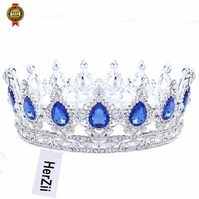 Princess Rhinestone Crystal Crowns Wedding Tiara Party Accessories Headpiece NEW