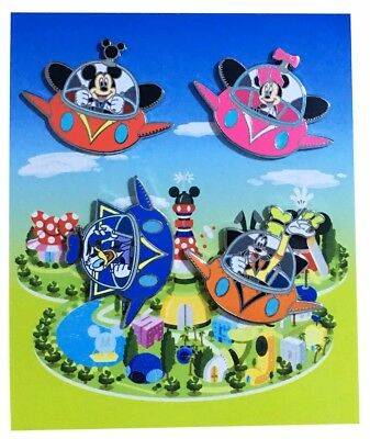 2014 Disney Flying UFO Booster Pack Set of 4 Pins Rare W4