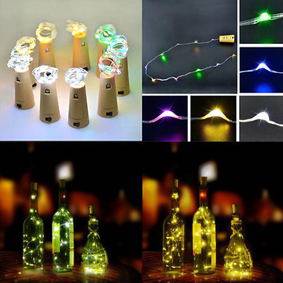 Chic Cork Shaped LED Night Light Starry Wine Bottle Lamp For Xmas Decor New