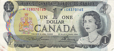 1973 Bank of Canada $1 Replacement Bank Note – *IG Series – F