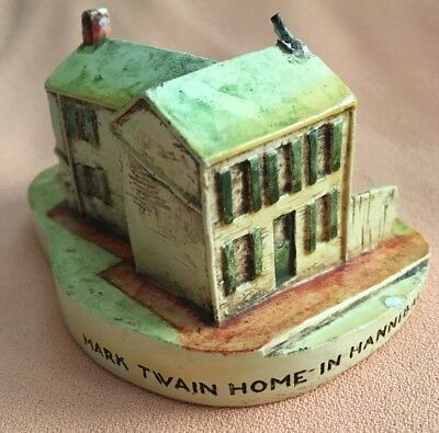 Vintage Rare Sebastian Miniature 1949 Model Mark Twain Home Hannibal Missouri