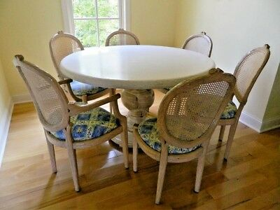 Table & Cane Back Chairs (6)
