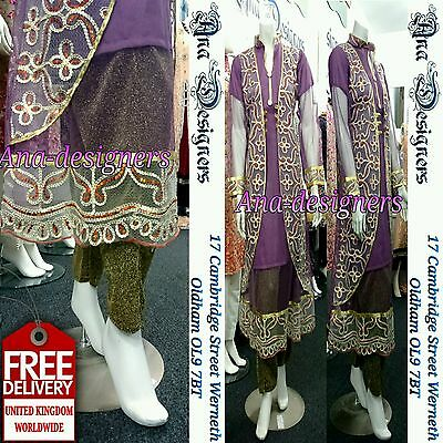 Ethnic Designer Shalwar Kameez Party Wear Readymade M Free Shipping