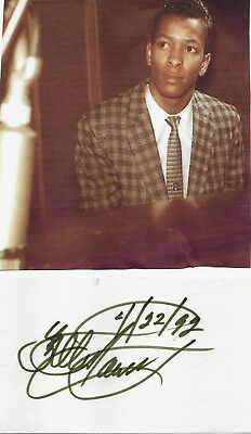Allan Toussaint - Rock&roll Hof - Genuine Hand Signed/dated Autograph/picture.