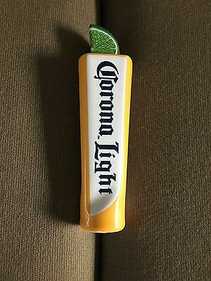 "Corona Light Ceramic Beer Mini Short Tap Handle Lime On Top BRAND NEW 6.5"" Tall"