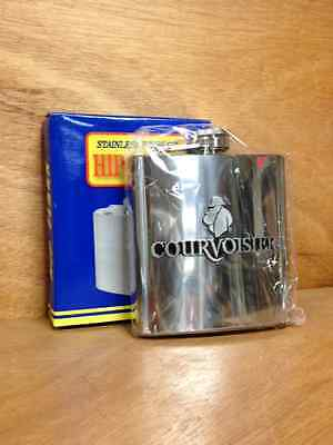Courvoisier Hip Flask Stainless Steel 6 oz. - New in box - Free Shipping