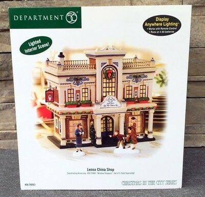 DEPT 56 CHRISTMAS IN THE CITY LENOX CHINA SHOP Department 56