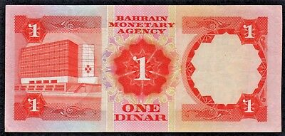 Bahrain ONE DINAR Falcon watermark BANKNOTE currency in current use.