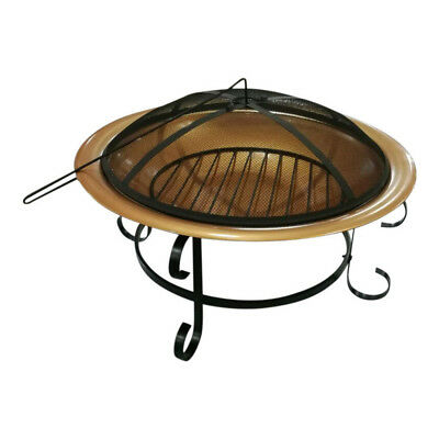 Copper Finished Steel Fire Pit - Camp Fire - Outdoor Fire Pit -74cm