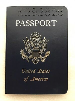 Vintage Expired US Passport 1984 With Photo And Stamps